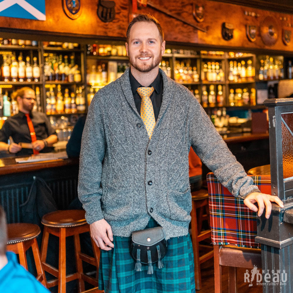 Our General Manager, Chris Mifflen rocking his kilt for our feature on #RideauStories