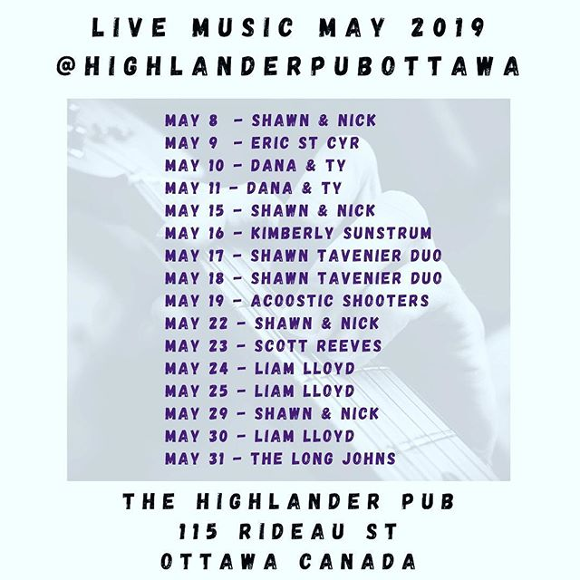 """That's one thing that music does. It gets people out of their houses, and gets them hanging out together."" - @davidbyrneofficial 🤘 • • • Local Music Lineup for May at #highlanderpubottawa - check out our website for all the details (no cover, ever!)• • • • 🤘 @shawneroo 🤘 @ampegvt_22 🤘 @ericstcyr 🤘 @joshmacfarlanemusic 🤘 @liamlloydoconnor 🤘 @kmbrlysnstrm 🤘 @t4rmusic 🤘 @silvercreekrock 🤘 @ledoux.d"