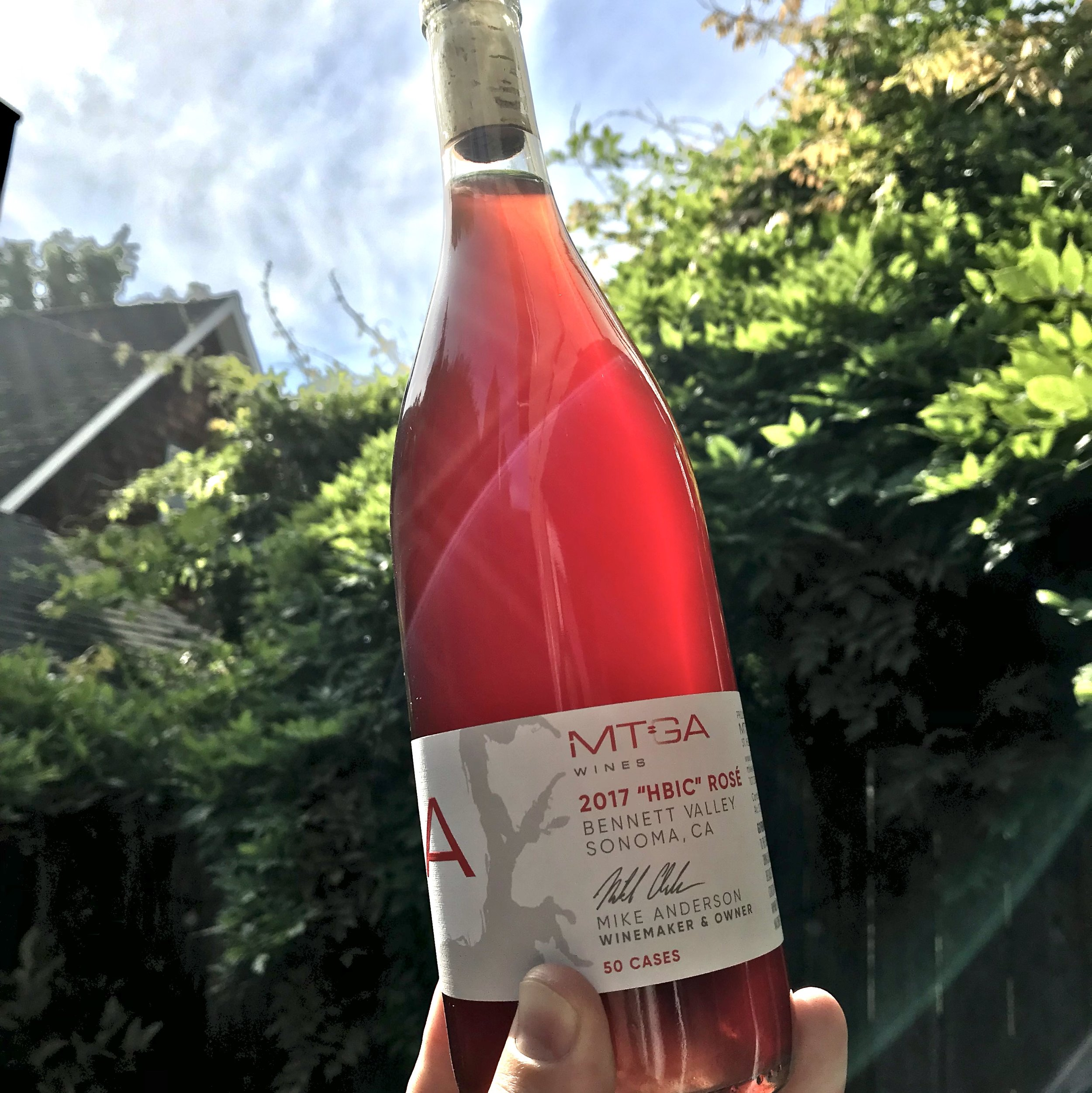 "Bennett Valley ""HBIC"" Rosé - Oh yeah, that's right! Whether it is you yourself, a friend, colleague or spouse we all know a HBIC. This un-fined and un-filter rosé is an homage to the style of MTGA's very own HBIC."
