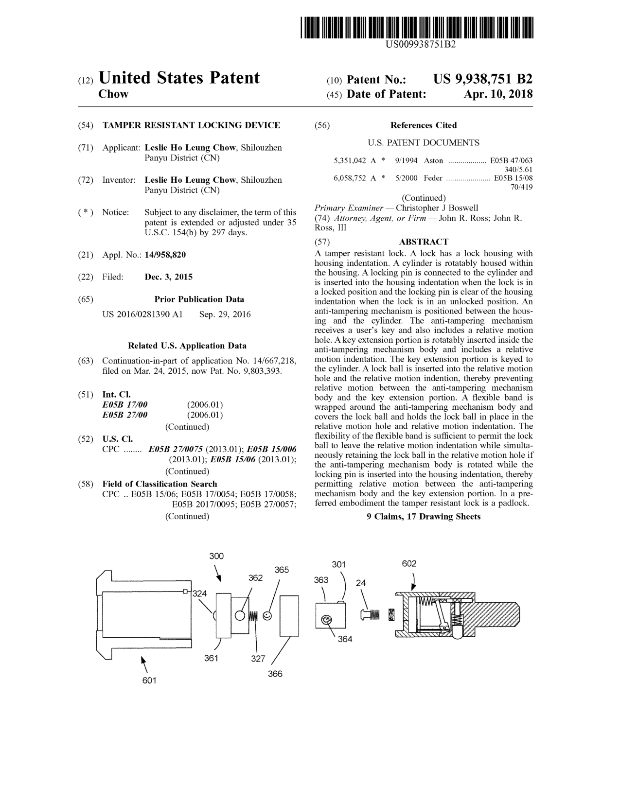 Tamper Resistant Locking Device