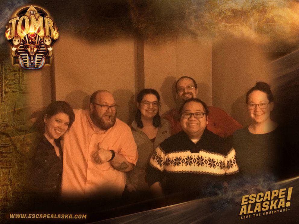 Jardin, Makar and friends at Escape Alaska