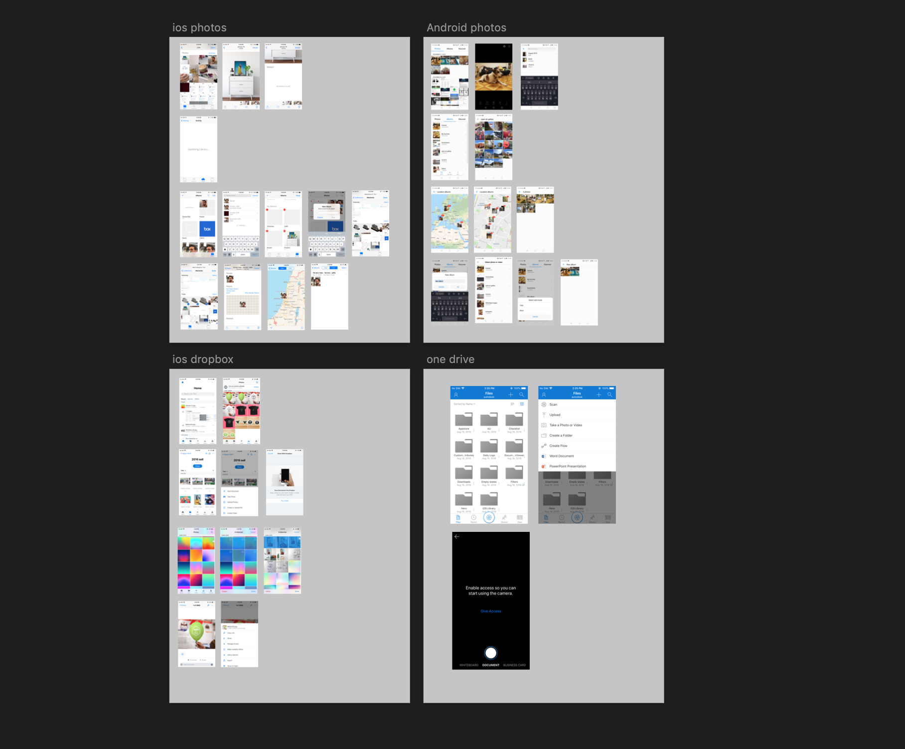 Photo libraries screenshot and workflows.