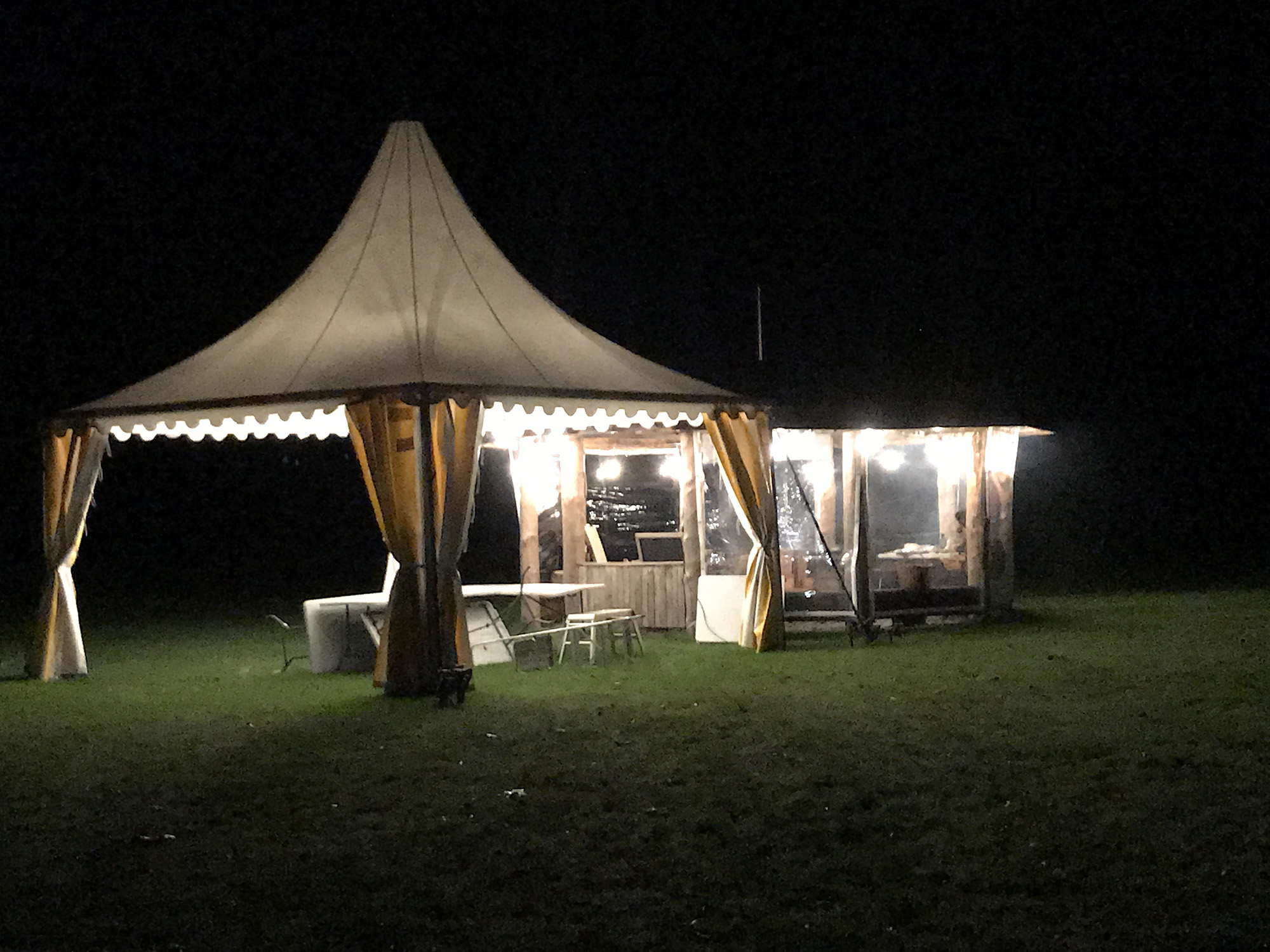 Evening events in the camping field