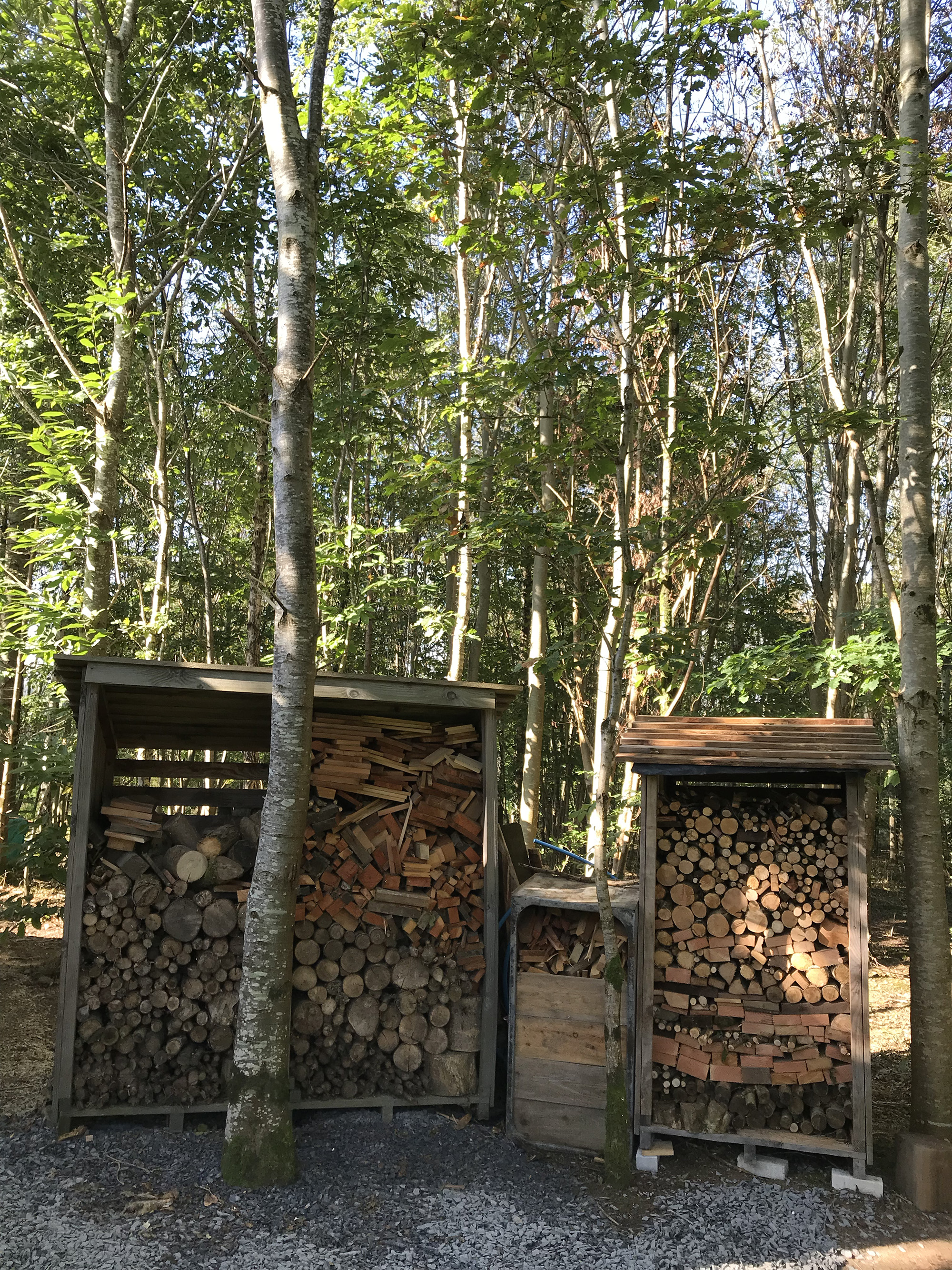 Firewood store for campers