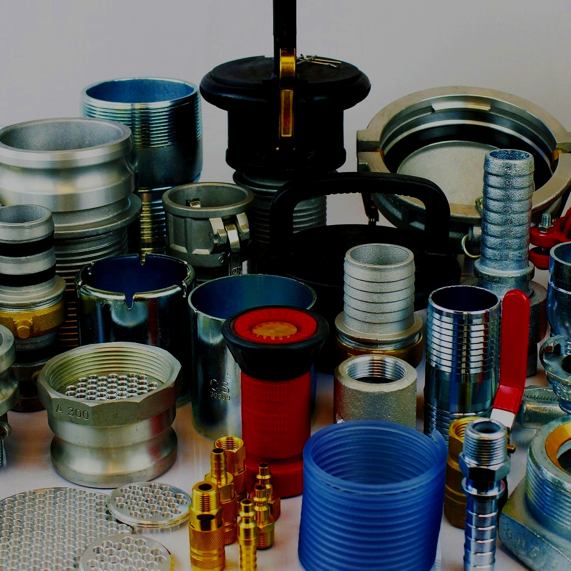 COUPLINGS& ACCESSORIES - Camlock / Cam & Groove FittingsPin-Lug / Suction Hose CouplingsCombination NipplesGround JointsSanitary / Triclamp FittingsAdapters for Camlock, Pipe Fittings, & HydraulicsAir FittingsBrass FittingsGarden Hose FittingsHydrant / Fire Hose AdaptersHose ClampsSuction StrainersHose Coupling Gaskets