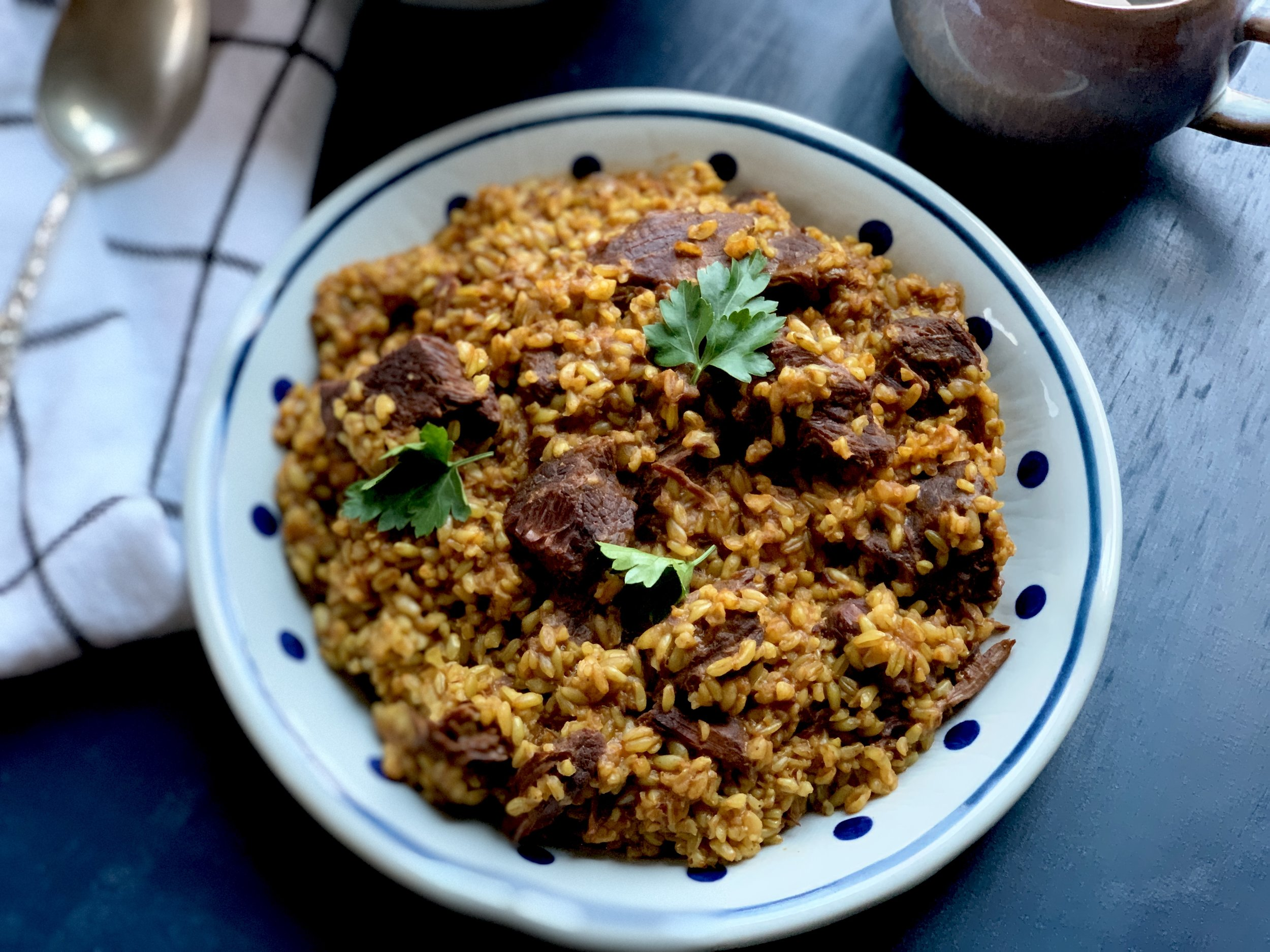 The Lore Beef stew and freekeh recipe