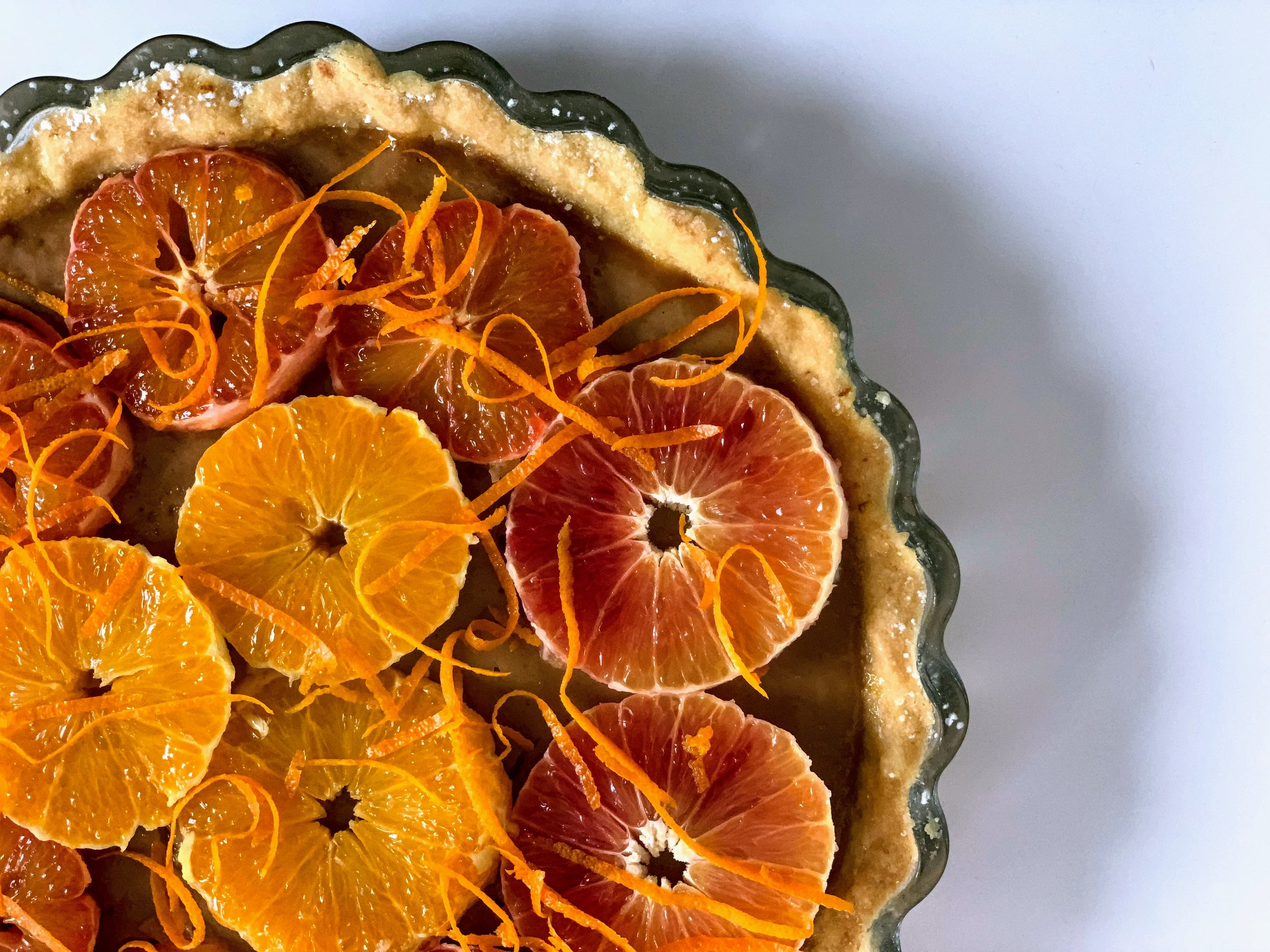 Orange Strawberry Tart Recipe