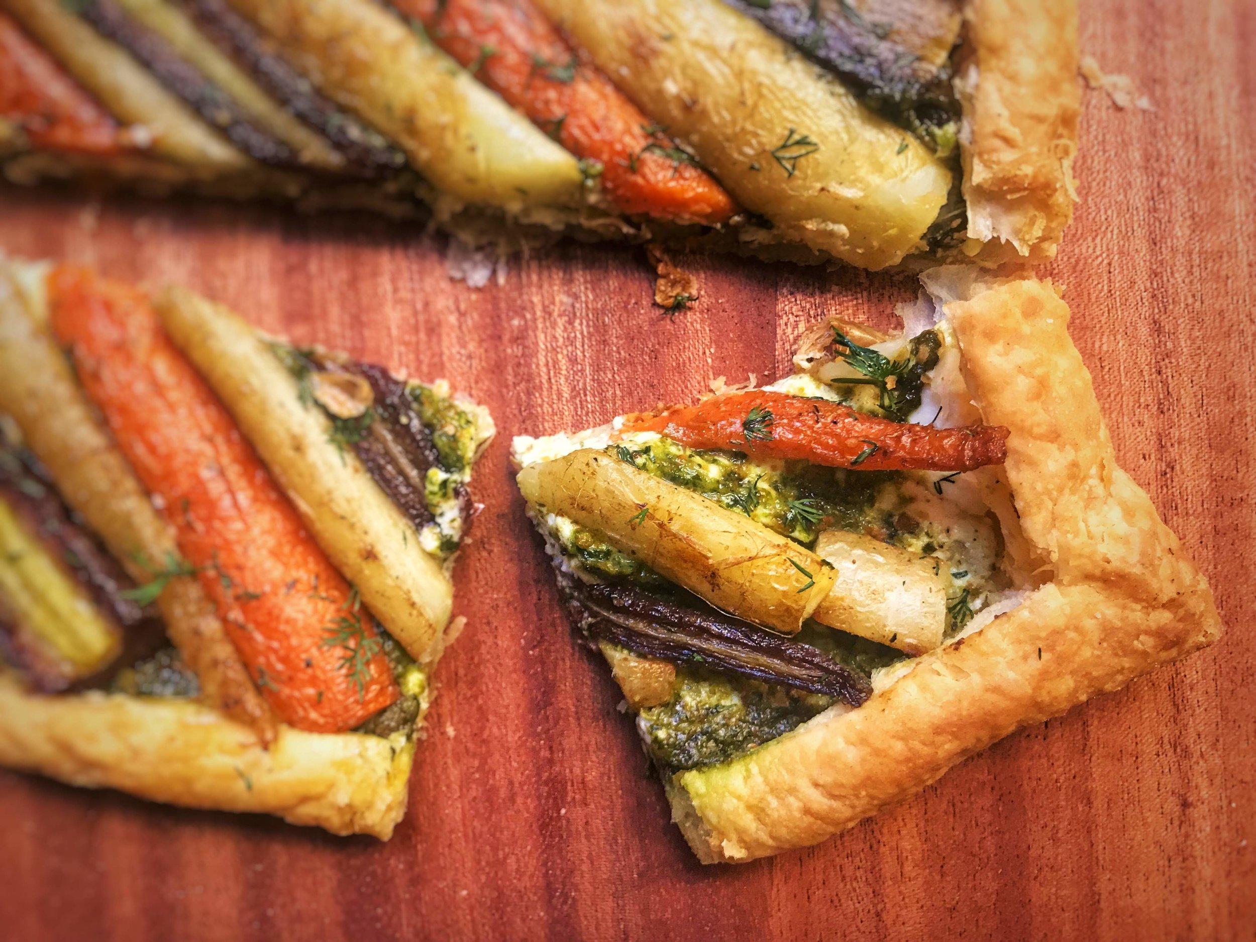 Carrot and Feta Tart Recipe
