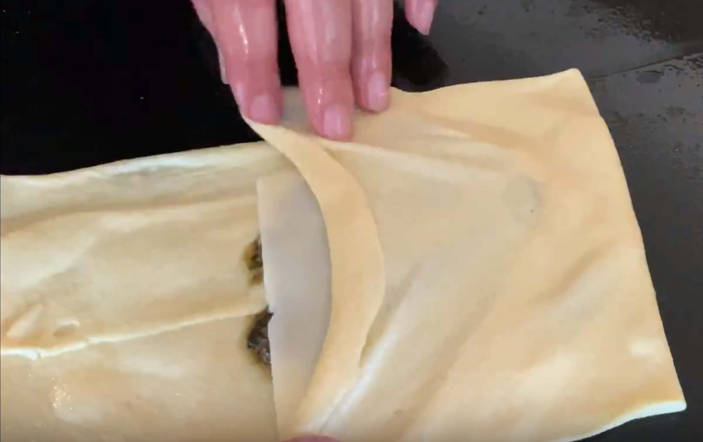 mhajeb instructions fold the dough over filling.jpg