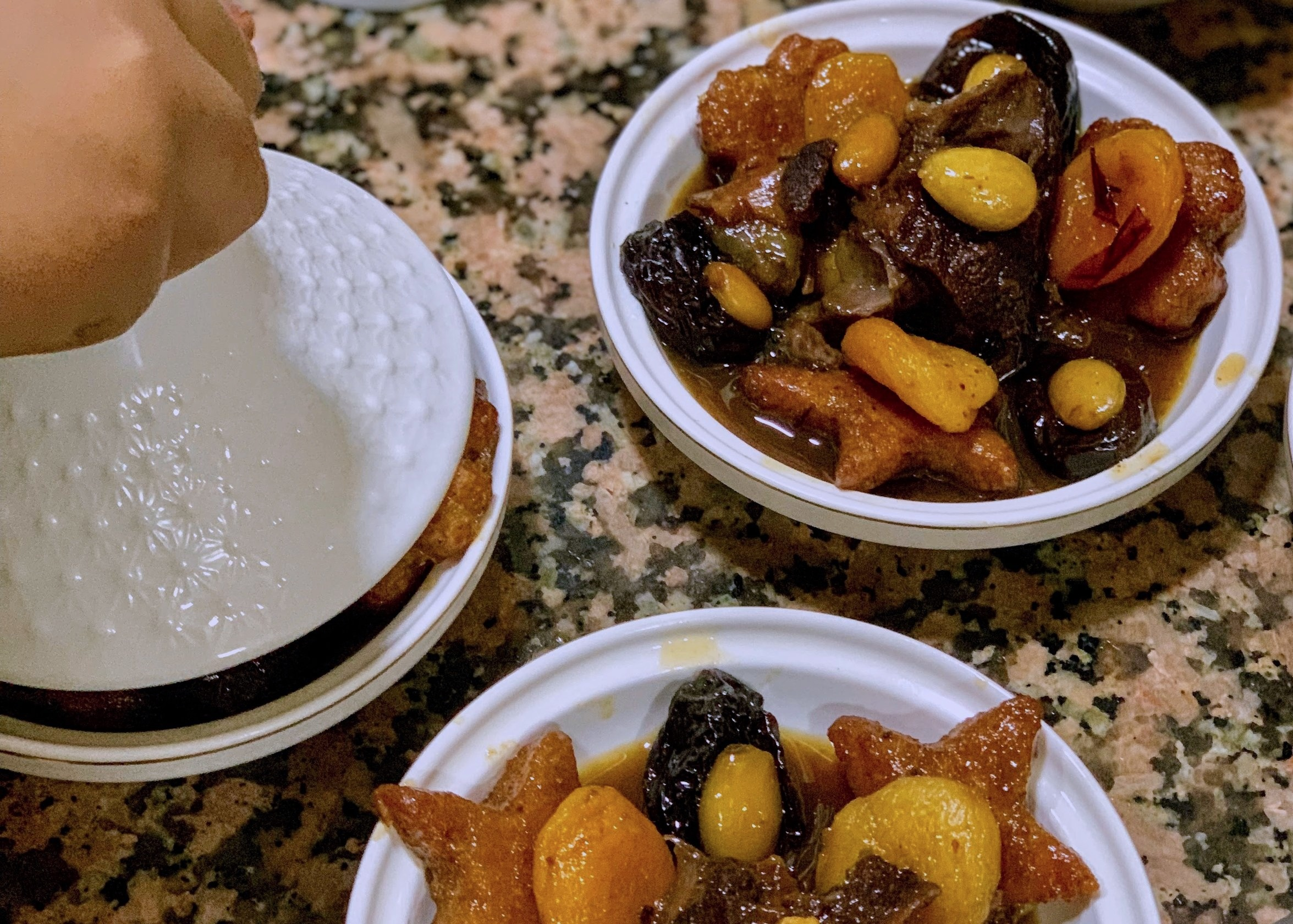Algerian delicacy - this picture was taken in an Algerian kitchen in 2018. The tagine was prepared as part of a goodbye dinner for an honored guest and a loved one. One more gesture amongst many of the love of an aunt towards her niece.