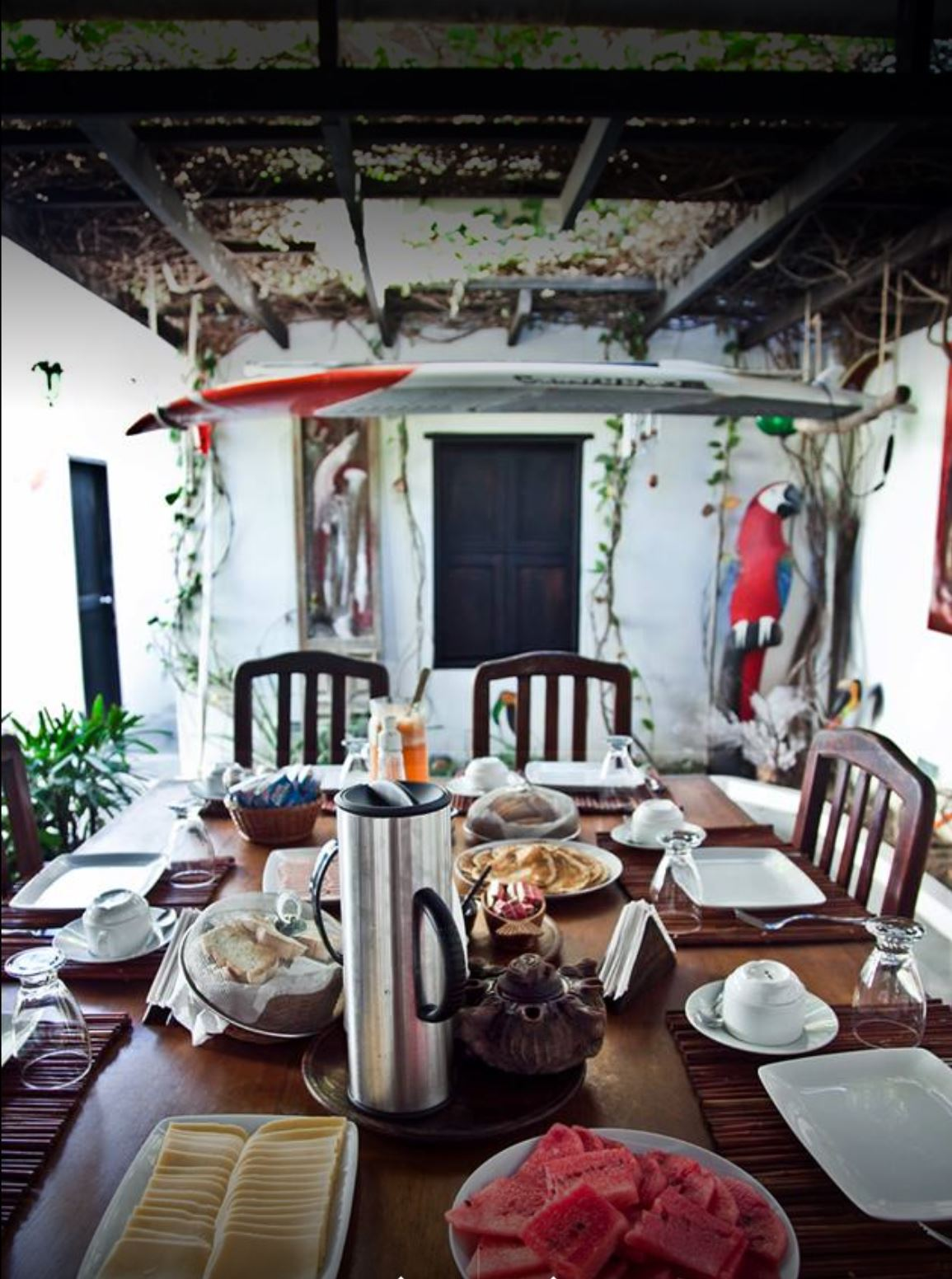 The Posada Piano and Papagaya Los Roques - A breakfast accompanied by a beautiful view of the sea