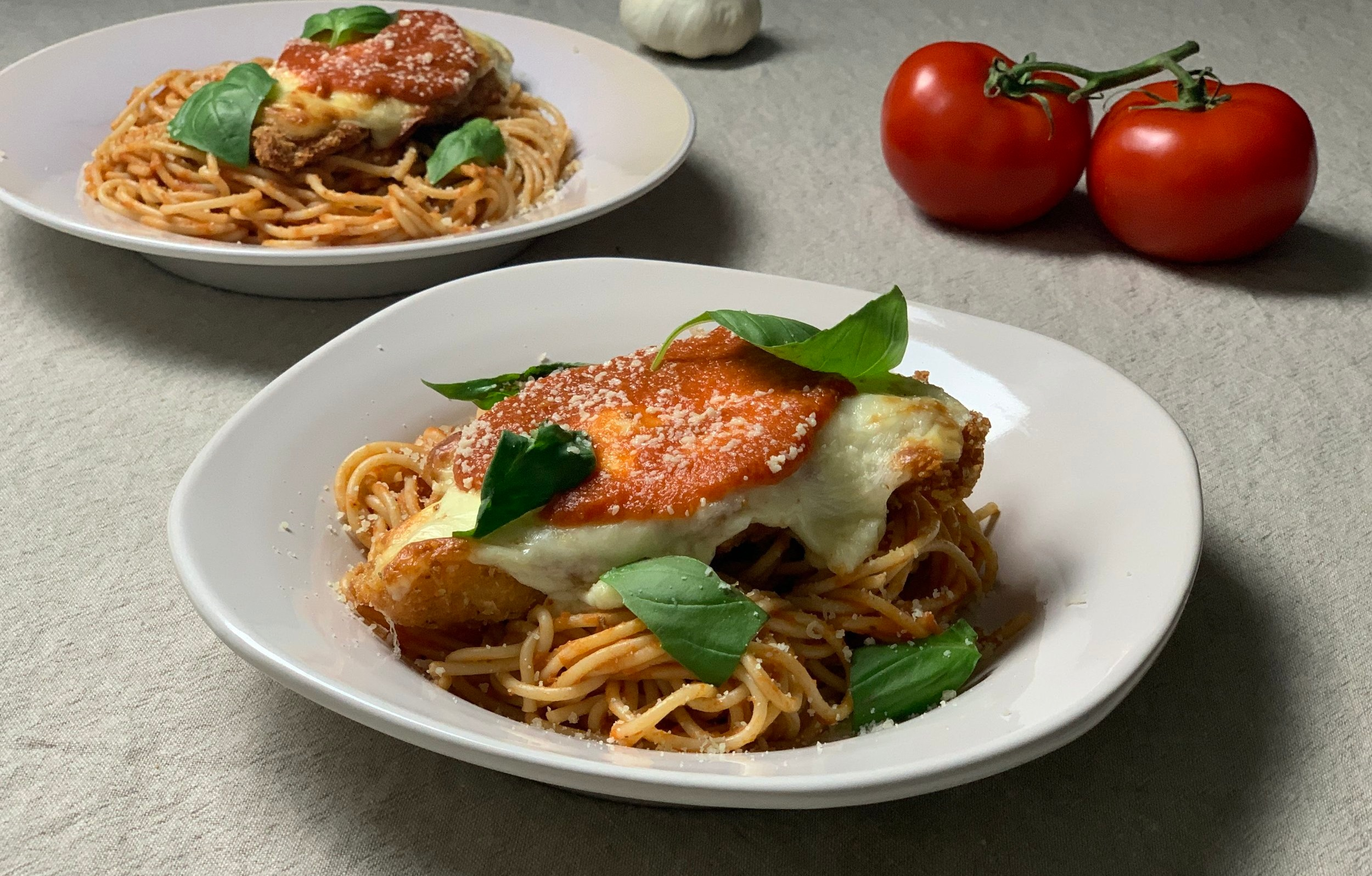 Ultimate Chicken Parmesan with Pasta and Tomato Sauce