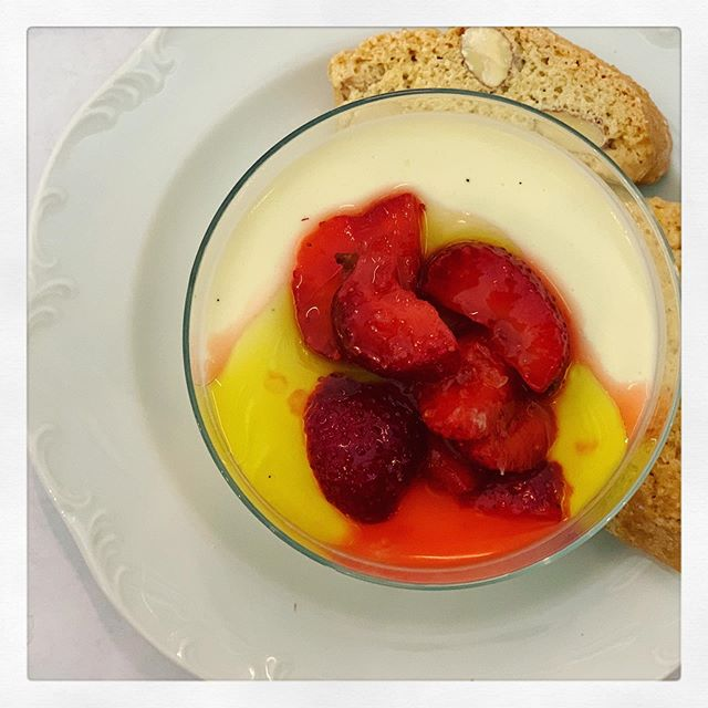 This olive oil panna cotta with macerated strawberries will be on heavy rotation this summer. Can't wait to add peaches to the mix. . . . #foodlore #feedfeed #imsomartha #icecream #goodmoodfood #mykitchen #foodphotography #foodie #food #foodstagram #foodlover #tasty #deliciousfood #yummyfood #onmyplate #thefeedfeed #thekitchn #ramadan2019 #thatsdarling #f52grams #nytcooking #huffposttaste #bhgfood #streetfood #eeeeeats #midnightsnack #tastemademedoit #realsimple