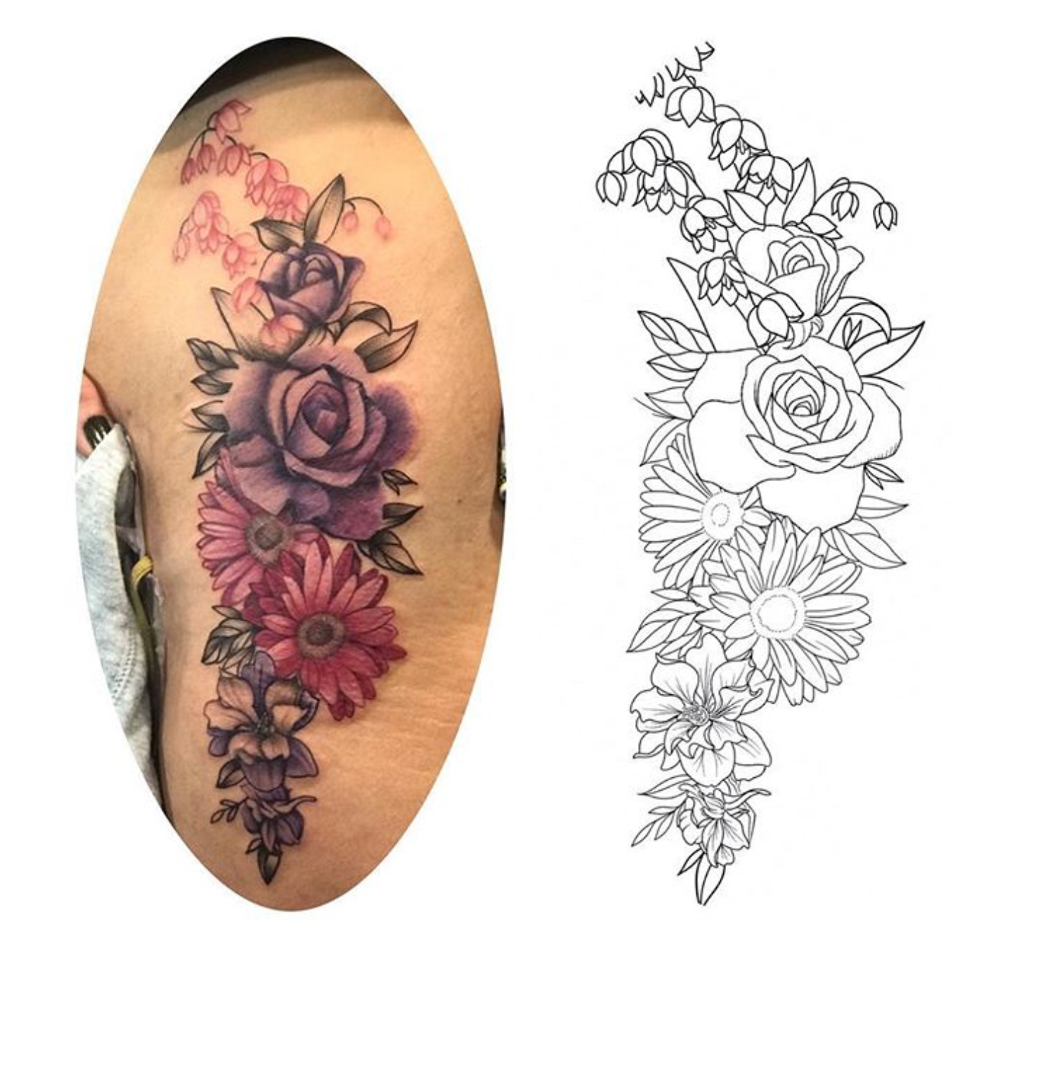 Flower sketch / Tattoo by Rosa Pérez