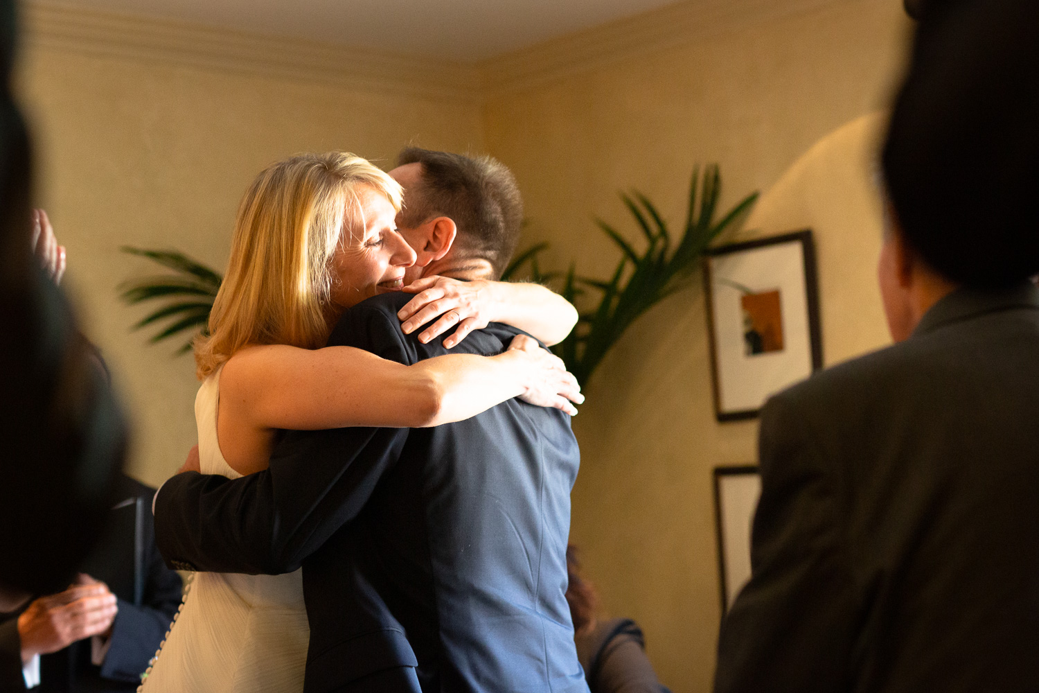 The palpable love between a newly married couple of a joy to behold.