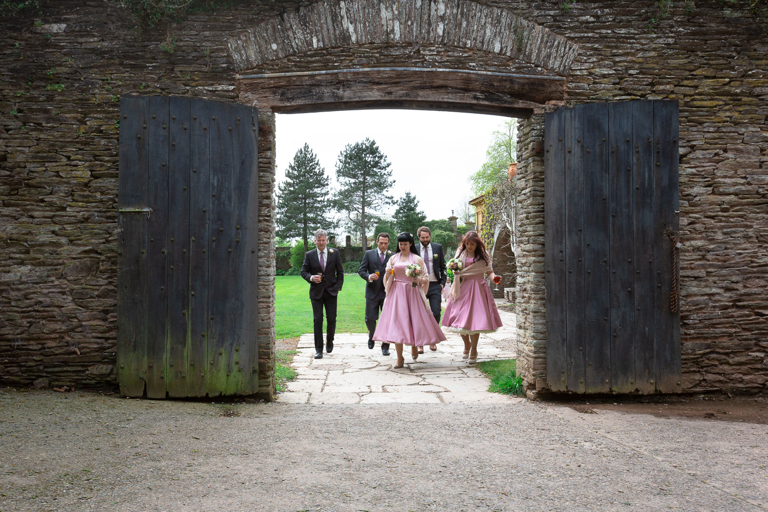Wedding Hestercombe House bridal party