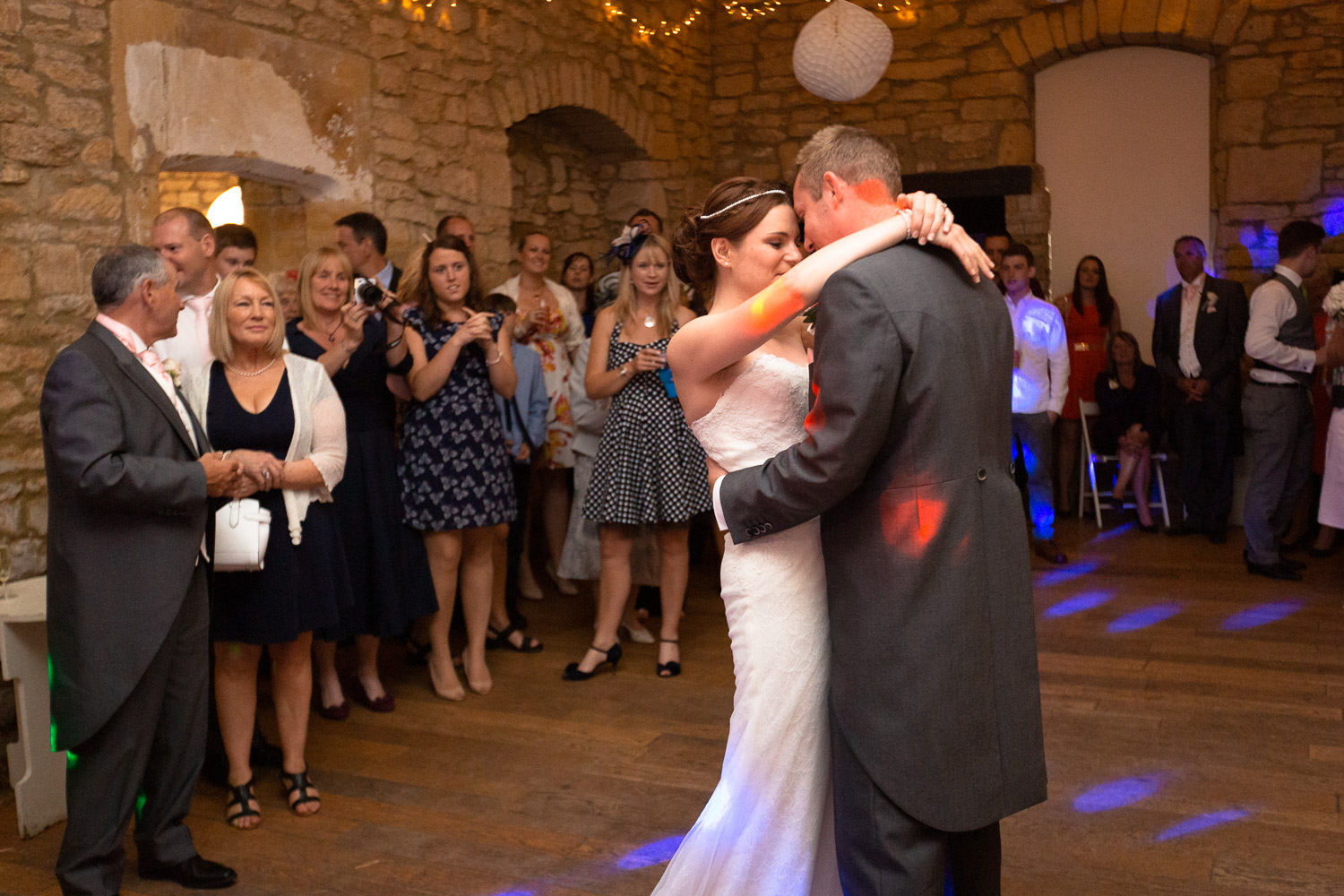 Wedding emotions love at first dance