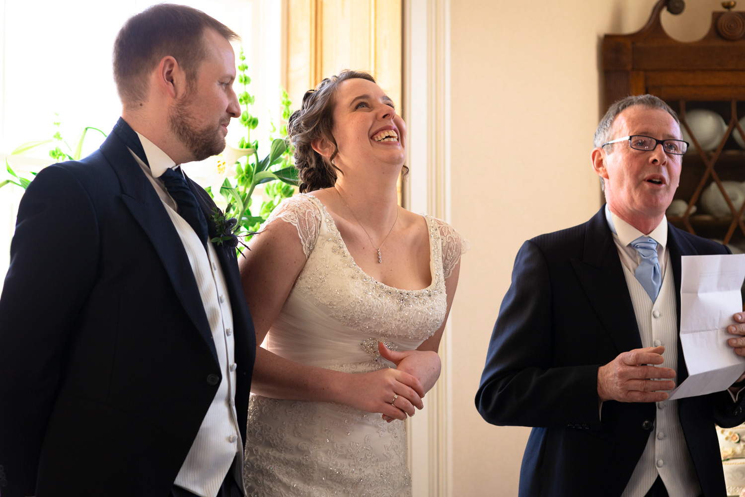 Wedding emotions laughter father of the bride speech