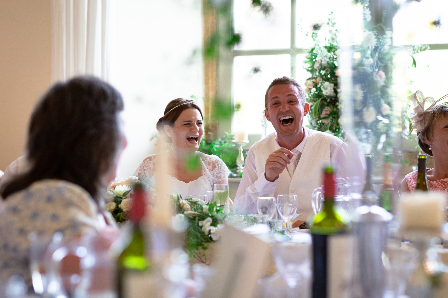 Wedding emotions laughter speeches