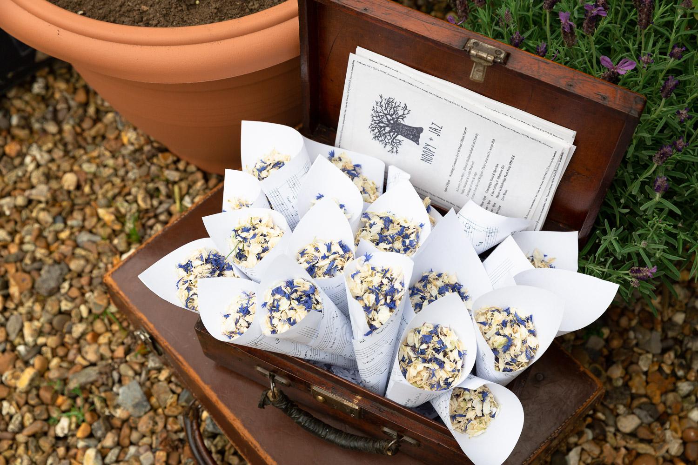 Documentary wedding photography sustainable confetti options