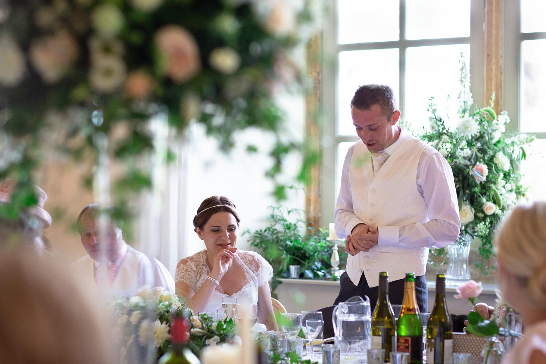 Natural wedding photography groom's speech