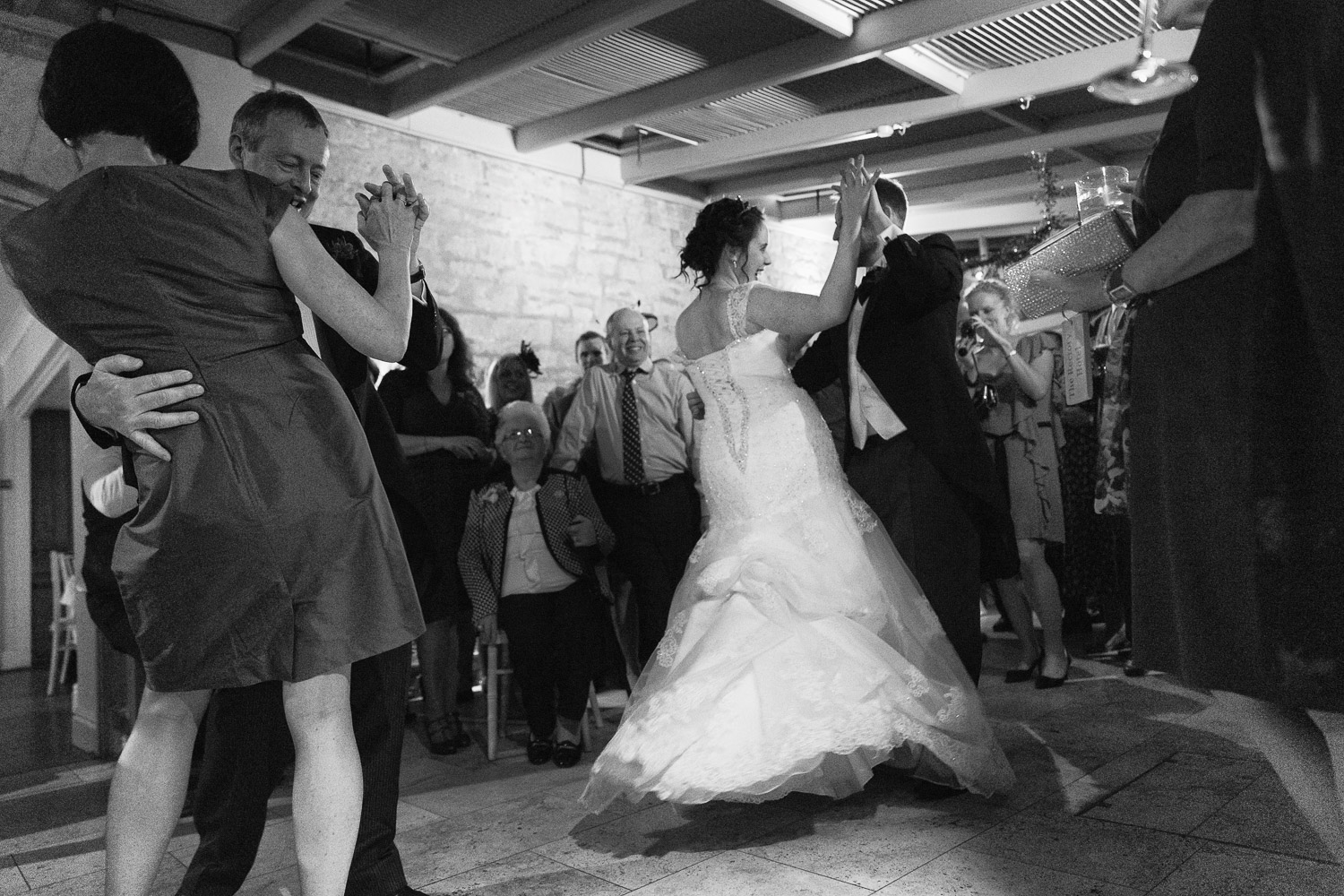 Wedding photography portfolio first dance black and white