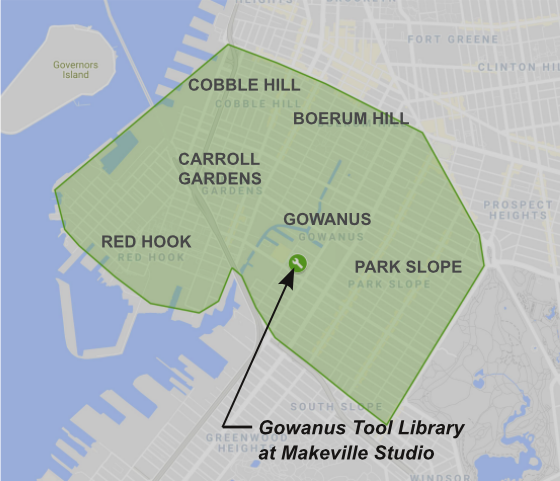 Membership - The Tool Library is for residents of Gowanus, Red Hook, Cobble Hill, Boerum Hill, Park Slope and Carroll Gardens.Become a member for a suggested donation of $20-$100/year. No neighbors will be turned away.
