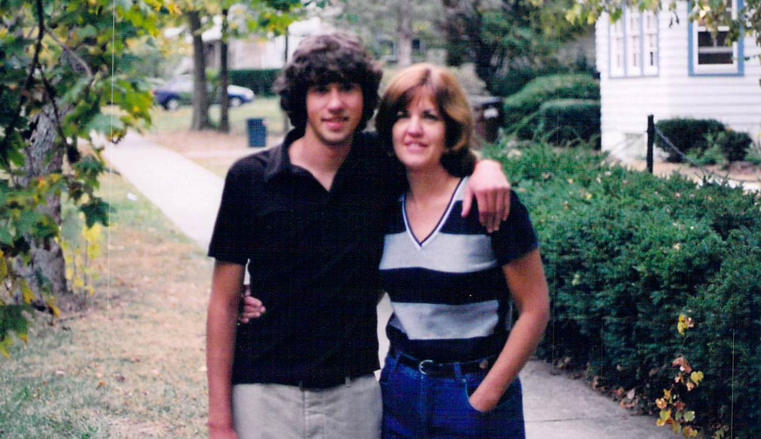 """I love you, mom."" - While Jason was attending college, he would quiet the crowds down, and stand on a chair and shout ""I Love My Mom."" Not many college kids would do this. His girlfriend Jenn suggested we start the ""I Love My Mom"" campaign. While cleaning out Jason's room, his mom Dolly came across some long forgotten items. It was while packing things up that she received a clear message from him to ""Play The Tape."" At first she did not know what this meant, but did find a tape marked Children's Christmas Songs. The message came again ""Play The Tape."" She could not believe what she heard next. It was her young boys talking and playing. Included was Jason's little voice saying, ""I LOVE YOU MOM!"""