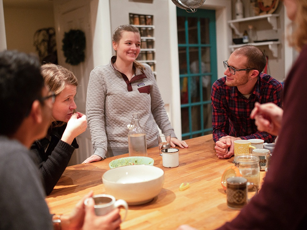 "Join a Home Group - Meet regularly and do life with a small, multi-generational ""family"" of disciples."