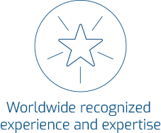 Worldwide recognized experience and expertise