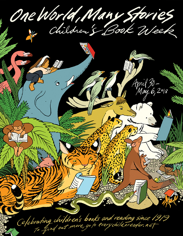 Children's Book Week 2018.  Poster for    childhood reading initiative   .