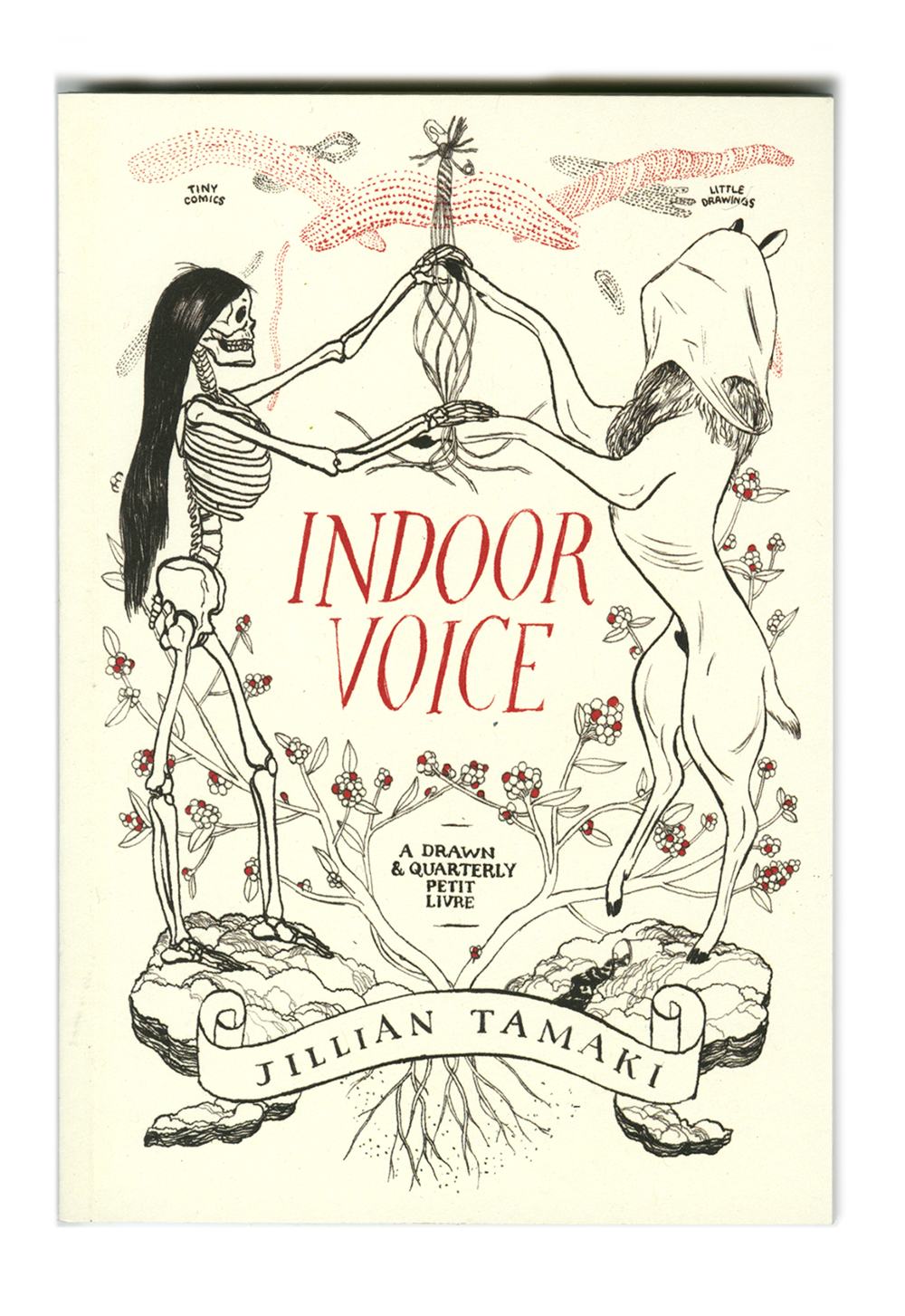 Indoor Voice - Drawn & Quarterly, 201096 pages, full colourIndoor Voice collects pen, brush, ink, watercolor, and collage experiments that show how Tamaki arrives at her illustration work, as well as more polished and personal comics work examining her relationship to her parents and their influence on her art.