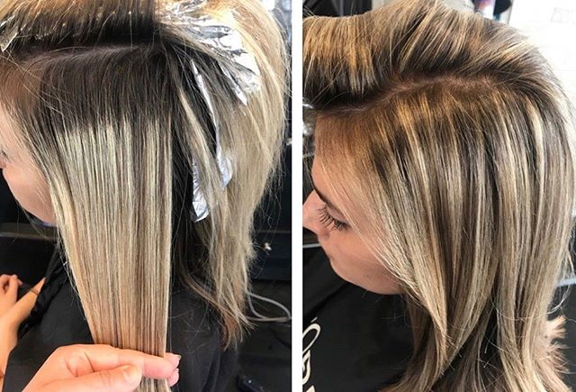 Before & After ✨ Did a full foil highlight to blend this heavy grow out line and added dimension for a more natural look... • hair by Hillary • . . . #makeovermonday #beforeandafter #foilhighlights #blondehighlights #citiesbesthairartist #behindthechair #btc #modernsalon #lorealpro #americansalon #maneaddicts #maneinterest #rva #rvasalon #rvahair #rvahairsalon #beautylaunchpad @beautylaunchpad @behindthechair_com @modernsalon @american_salon @citiesbesthairartists