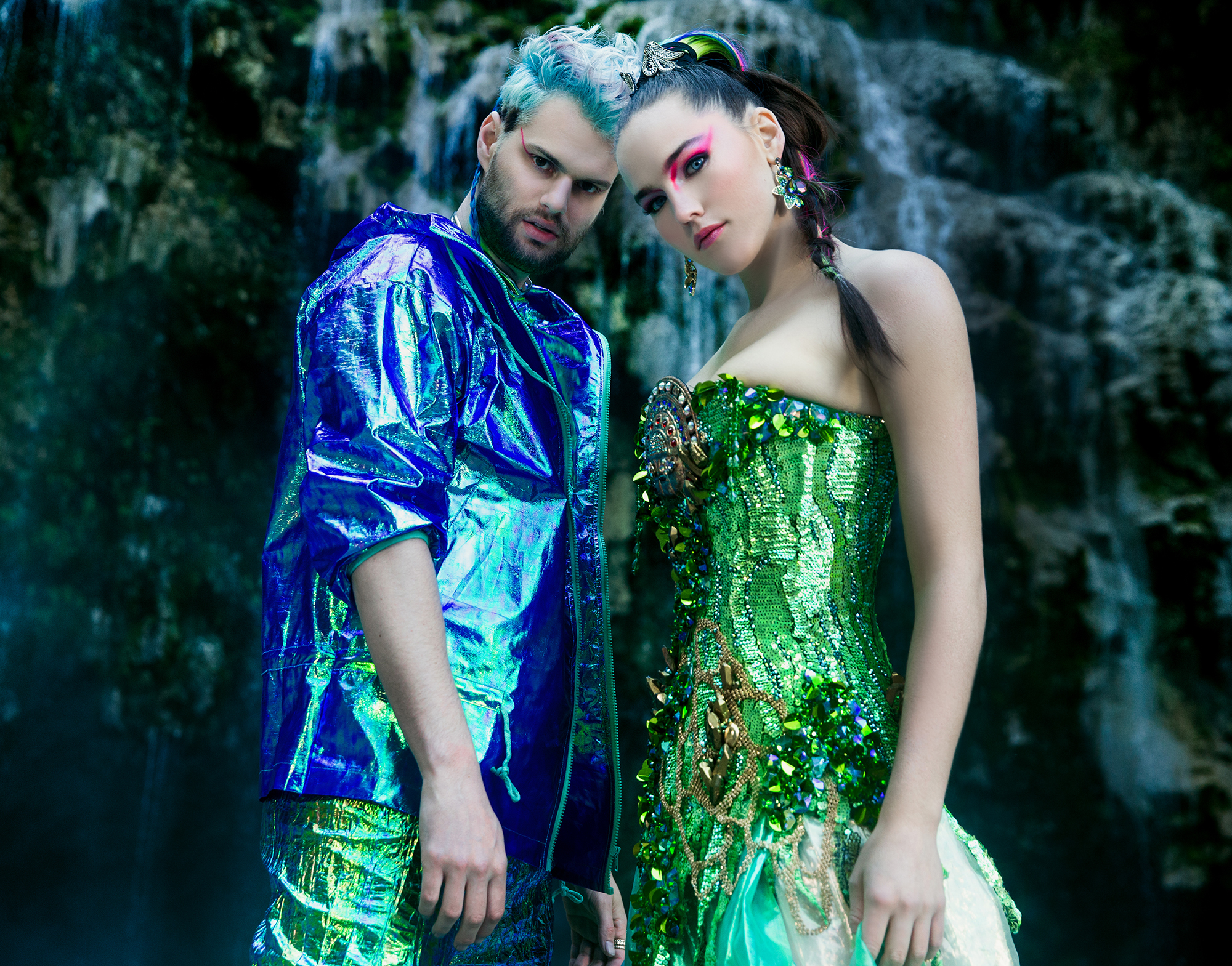 "SOFI TUKKER's success was anything but planned. The band's very existence happened haphazardly after Sophie Hawley-Weld met Tucker Halpern during an art show at Brown University, where they both happened to be performing. It only took a couple of months before the NYC-based duo penned their viral track ""Drinkee"", which has since been featured in an Apple Watch Ad, racked up over 20 million Spotify streams, and received a Grammy nomination for Best Dance Recording. - SOFI TUKKER"