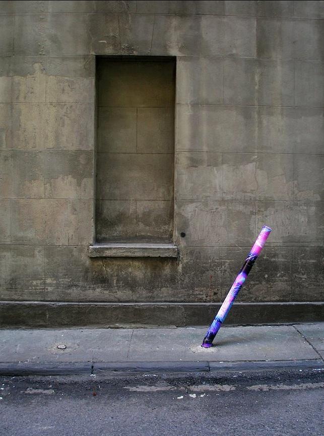 Marketfield Place (leaning pole), Financial District, Manhattan, inkjet photographs, 2007