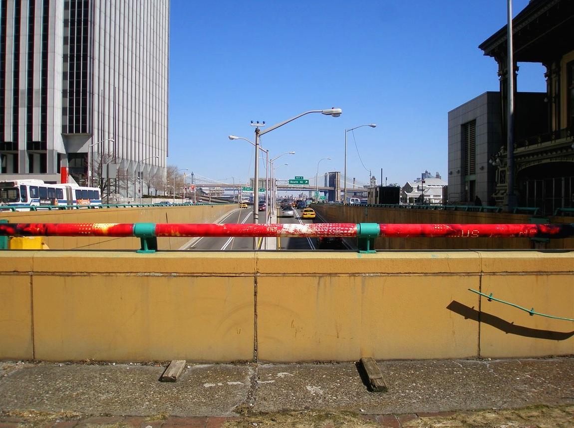 The FDR @ Whitehall St., Financial District, Manhattan, inkjet photographs, 2008