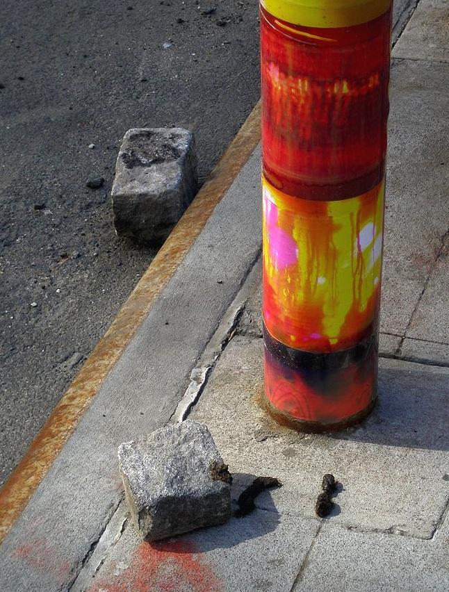 41 Bond Street (pole), NoHo, Manhattan, inkjet photographs, 2009