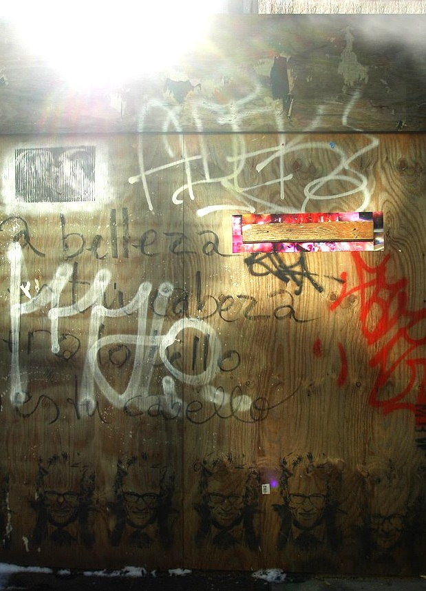 41 Bond Street (wood fence), NoHo, Manhattan, inkjet photographs, 2009