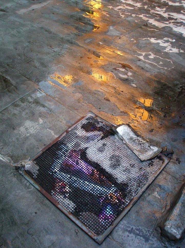 16 Beaver Street (under screen), Financial District, Manhattan, inkjet photographs, 2007