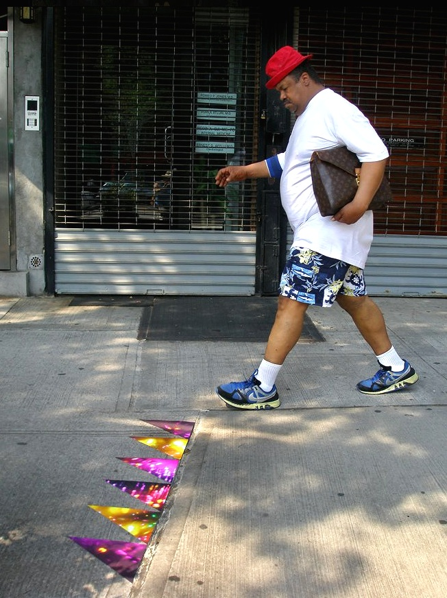 Atlantic Avenue (sidewalk triangles), Boerum Hill, Brooklyn, inkjet photographs, 2008