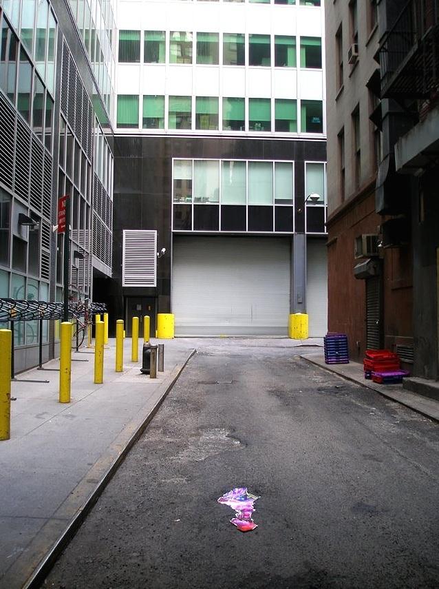 Marketfield Place (pothole), Financial District, Manhattan, inkjet photographs, 2007