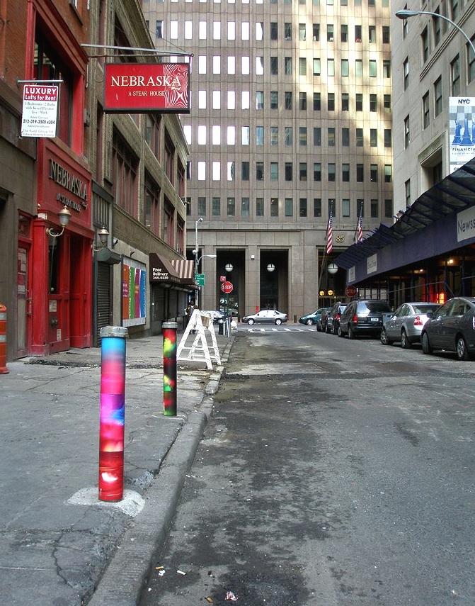 Stone Street, Financial District, Manhattan, inkjet photographs, 2007