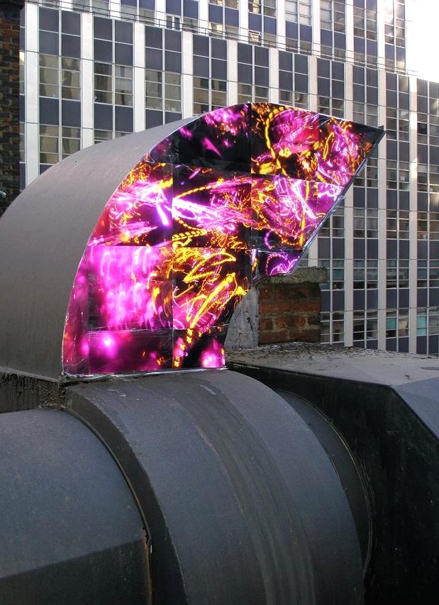 16 Beaver Street (HVAC vent/pink), Financial District, Manhattan, inkjet photographs, 2007