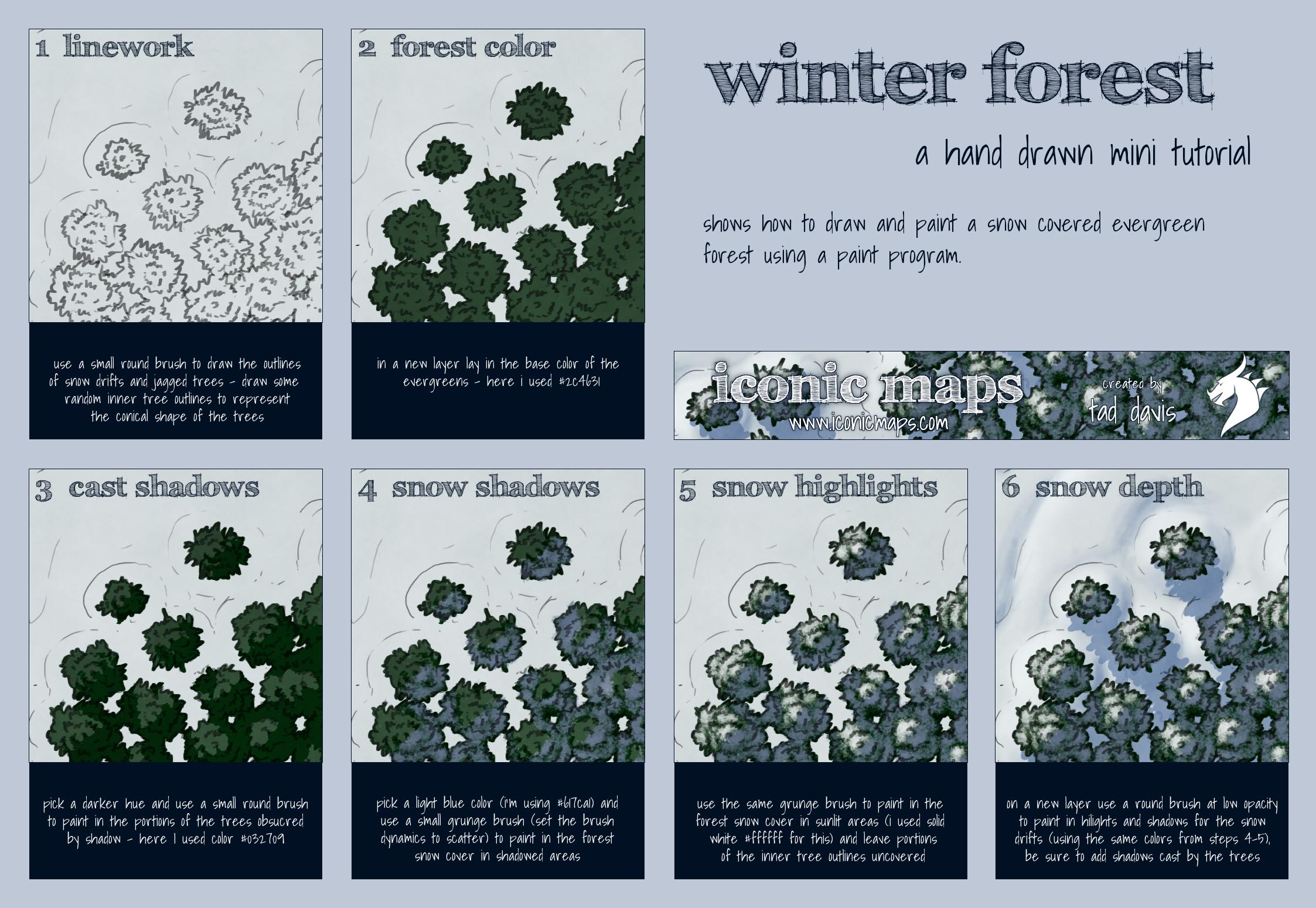 Winter Forest Tutorial