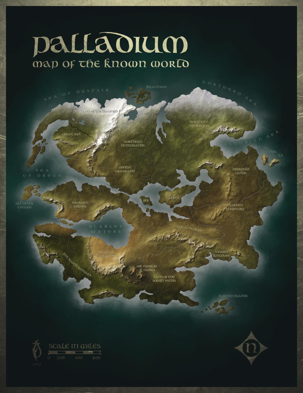 Palladium Wold Map