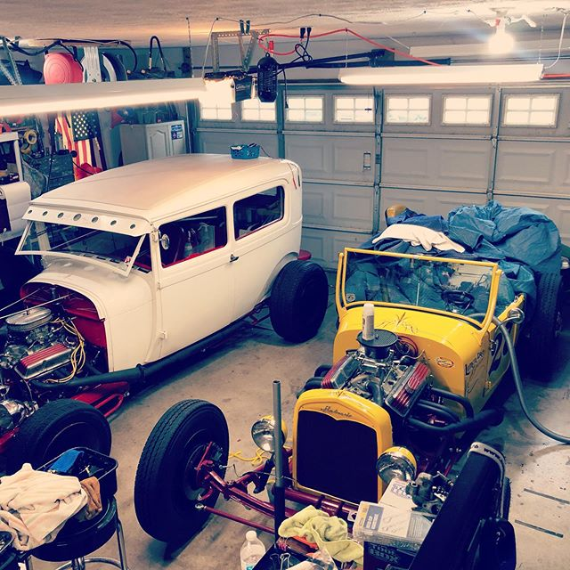 Current garage situation #27 and #29 and the #29modela in progress