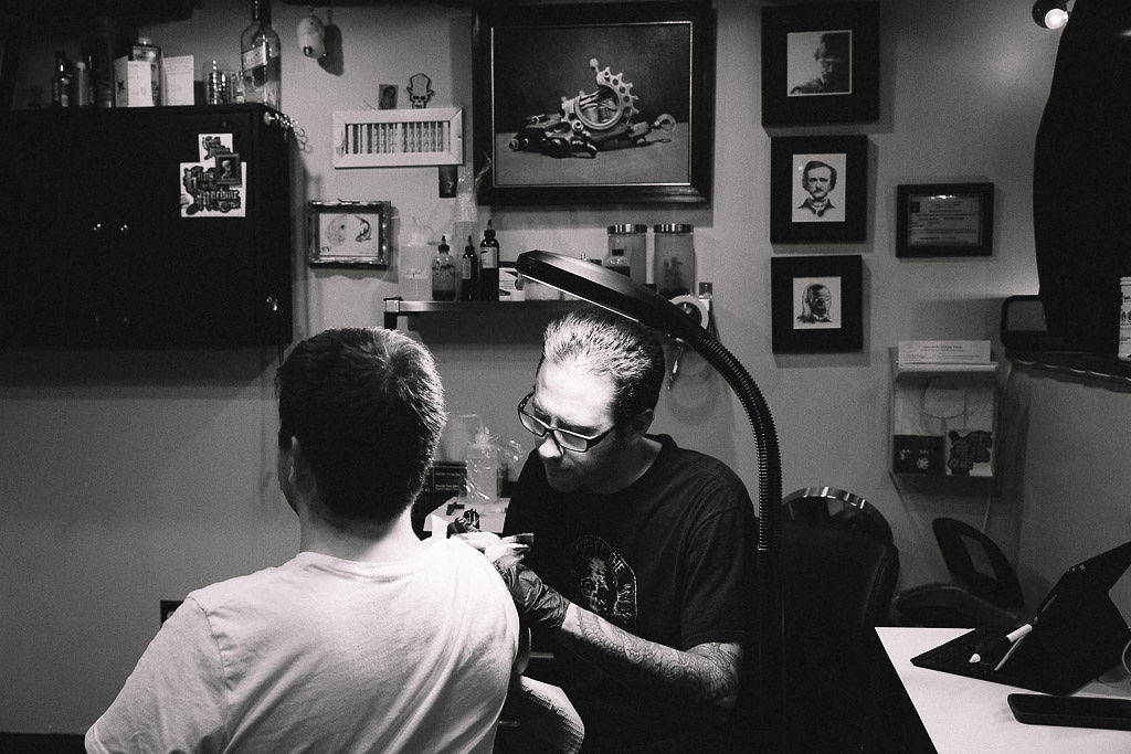 Bill Byers - A graduate of the Art Institute of Boston, Bill has been tattooing for 15 years. Bill specializes in realism but is glad to take on projects of all kinds.