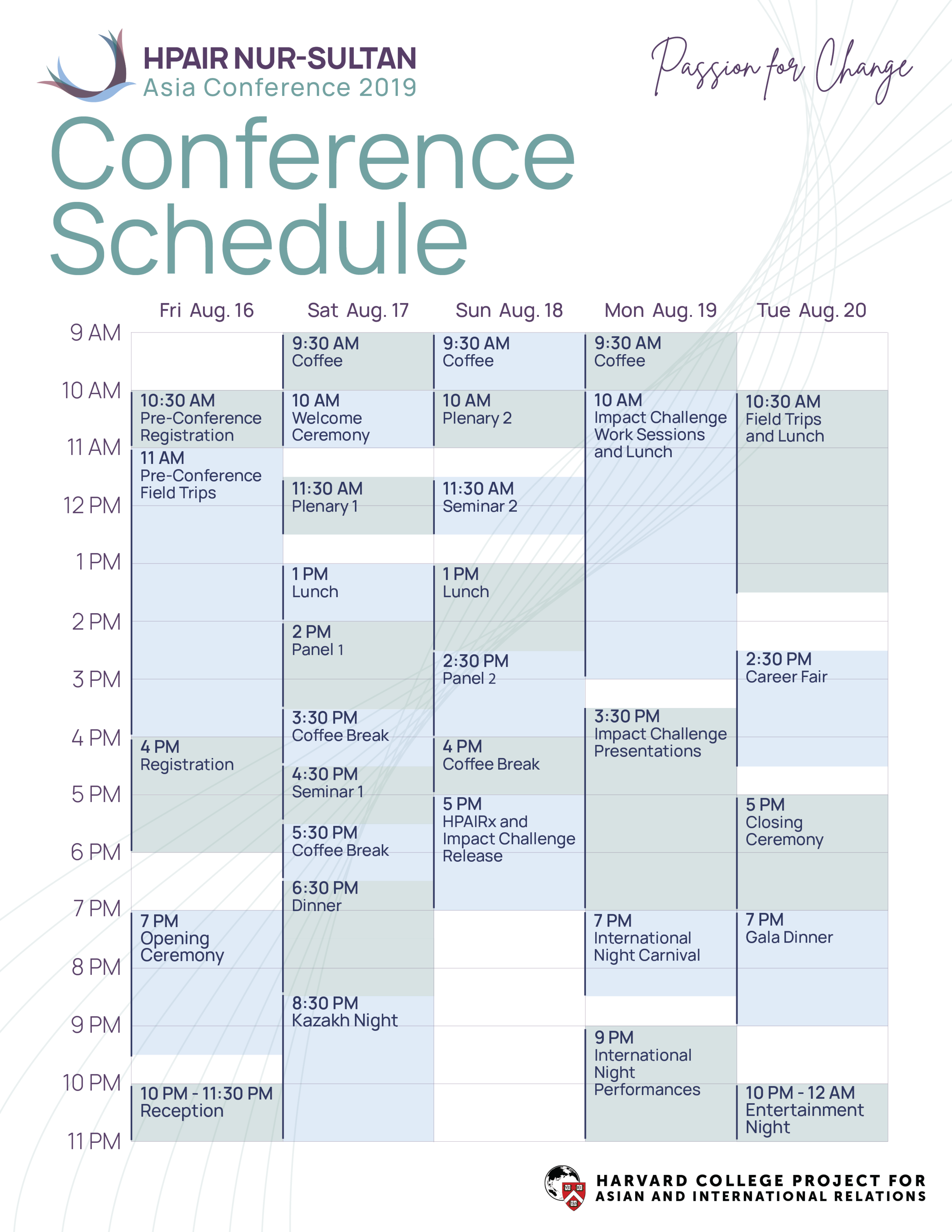 Asia Conference Schedule
