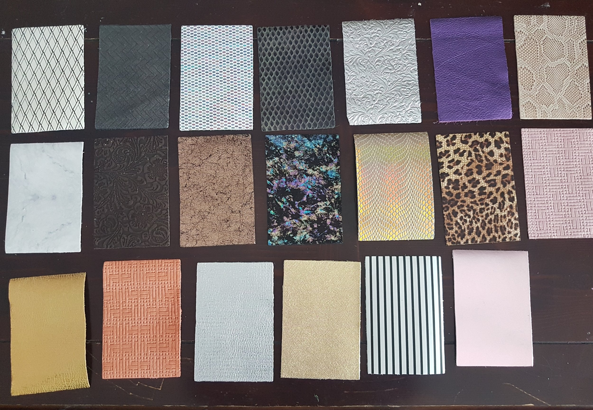 """Batch 3: - More 4""""x6"""" pieces of leather for smaller projects."""