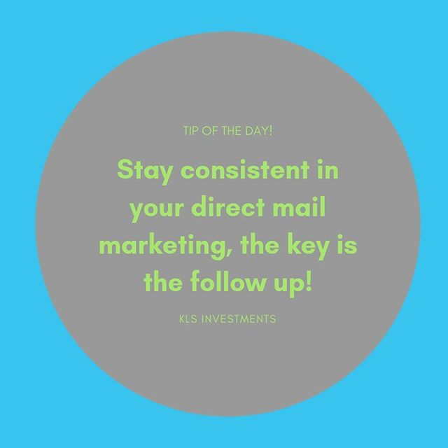 Consistency is key!
